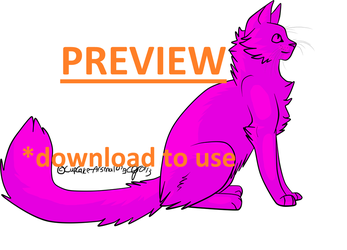 Free to Use Cat Base {PS/MSP included} by comLcsans