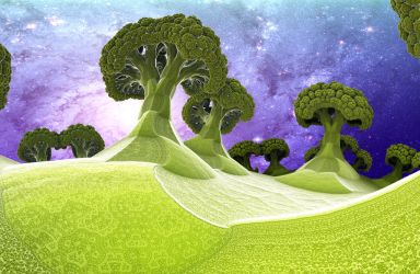 Broccoli Planet by Dr-Pen