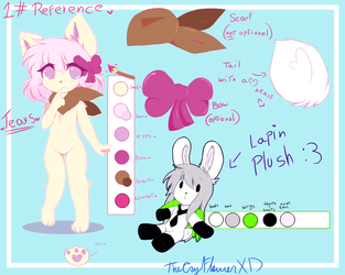 Tears new furrie oc Reference Sheet by TheCryFlowerXD
