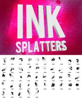 Grungy Ink Splatter Sprays by pstutorialsws