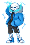 Smoking Sans (upgrade) by shion396