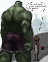 Can Hulk Play? by devowankenobi