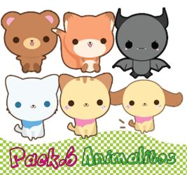 Pack.6 PNG 'Animalitos' by MayruuGomez