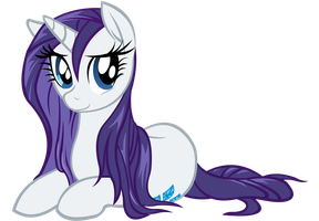 Rarity Fan Vector by CartoonTiger