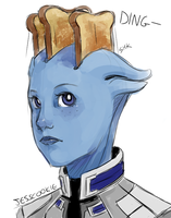 Commander, your toast is ready by Jesscookie