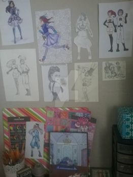 Art Wall (And 2 coloring page2) by TeamRocketOtaku