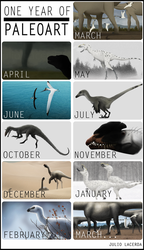 One Year of Paleoart! by Julio-Lacerda