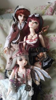 Steampunk Family II by Blackeyes1001
