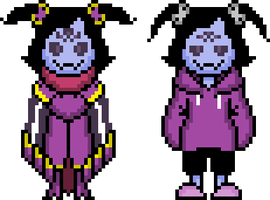 More Muffet sprites by flambeworm370