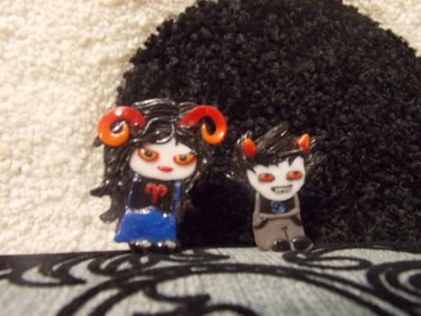 Aradia and Karkat rings by PC9