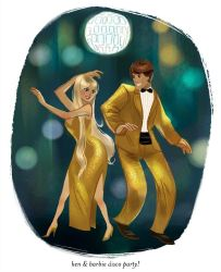 Ken and Barbie Disco Party by wendichen