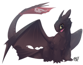 Toothless (fan art4/10) by phation