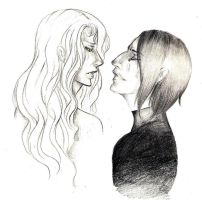 Snape and Lily by Solachine