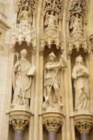 Zagreb Cathedral detail 1, Croatia by wildplaces
