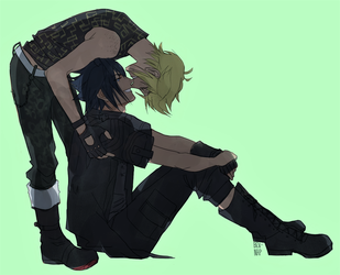 Fluffy Promptis (Commission) by Bev-Nap