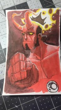 $50 Hellboy Color by JeremyTreece