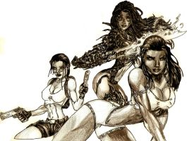 Ladies of Top Cow by Shigdioxin