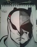 batman vs blue falcon billionaire fight by gabrielsart89