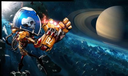 Skull Robot in Space by Rob3rT----Design