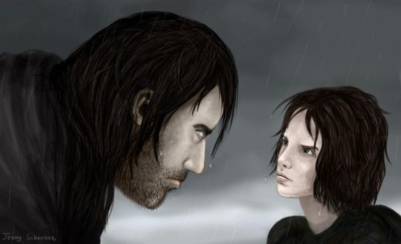 The Hound and the Wolf Pup by jekaa
