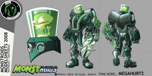 Monstroids Modelsheet 02 by RobDuenas