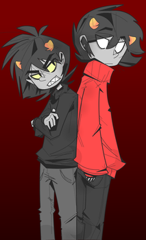 Karkat and Kankri by Greathorn