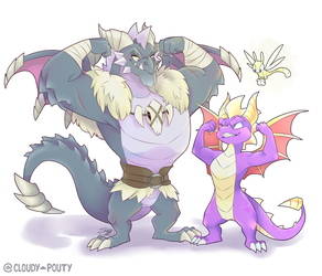 Bubba and Spyro by cloudypouty