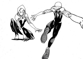 Spider Gwen suit design by HornbillKun