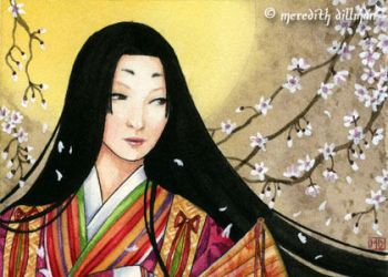 Heian Lady aceo by MeredithDillman