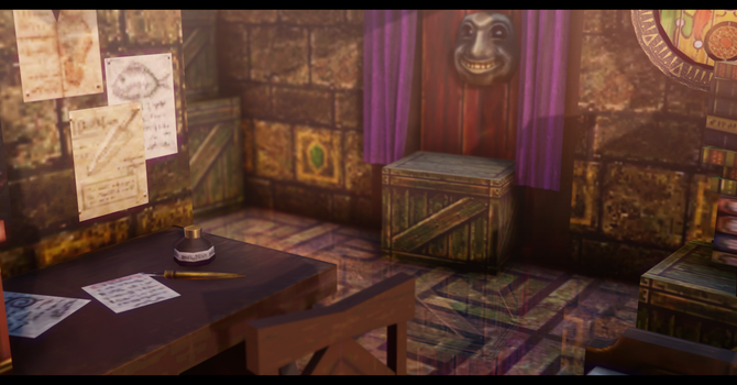MMD Majora's Mask Kafei's Hideout Stage DL by k-keii