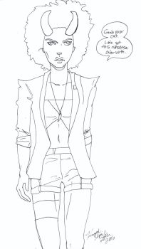 Saga Coloring Page Gwendolyn Seeks Answers by MyThoughtsAreDeep