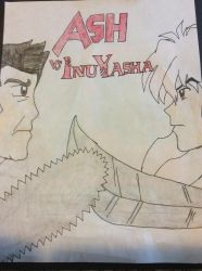 Ash vs Inuyasha by doctorwhooves253