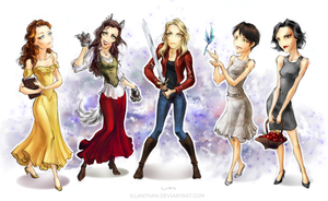 OUaT - Chibi Ladies by ILLanthan
