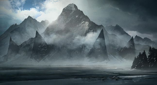 Mountain of the Old gods by jonathanguzi