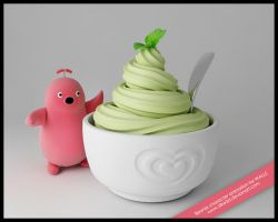 Wall's Beanie loves ice cream by silke3d