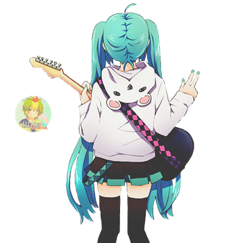 Hatsune Miku Render by xBlue-Editions