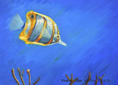 How to Paint a Butterfly Fish With Oil Paints by ArtistLeonardo