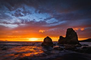 Rodeo Beach Sunset by nathanspotts