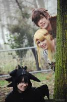 HTTYD ~ Hiccup, Toothless and Astrid by Yamato-Leaphere
