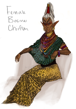Bosmer Chieftain by frene