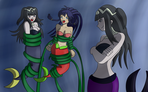 Commission : Tharja and Tana captured by Tharja ?! by Gregory-GID-DID