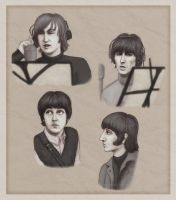 Beatles portraits - 1966 by Lucy--C