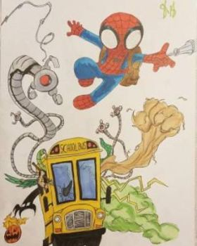Spidey getting chased by villians finished by andyosu20