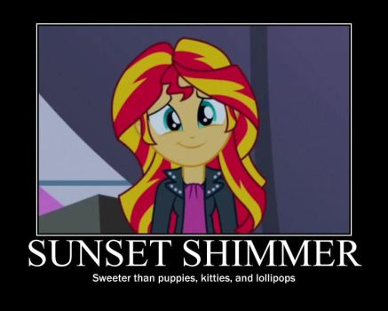 Sunset Shimmer Motivational by HeroMan655