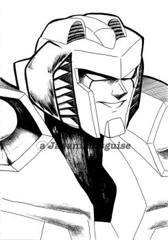 Armada Starscream lineart by japanindisguise