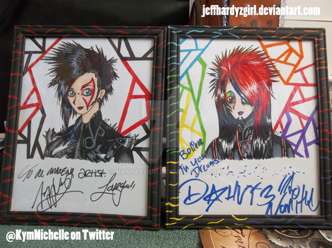 My drawings signed by Jayy and Dahvie by KymmieCup