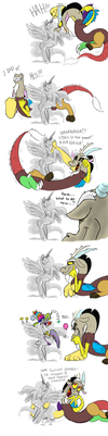 Discord's playtime by Mickeymonster