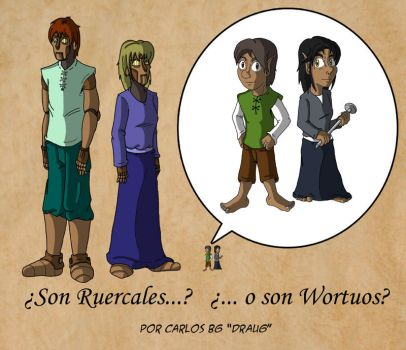 Ruercales y Wortuos by feadraug