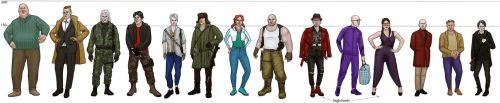 witcher modern!AU random characters height chart by Michelsminne