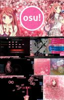 osu! Skin Preview: KantoKurumi by Maolyn [StD/CtB] by Maolyn